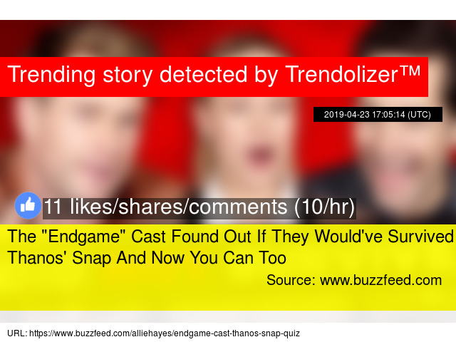 buzzfeed would you survive thanos snap