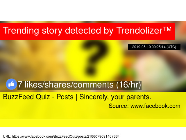 BuzzFeed Quiz - Posts