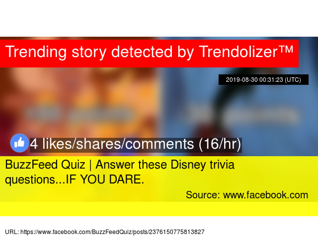 BuzzFeed Quiz | Who knows, maybe you'
