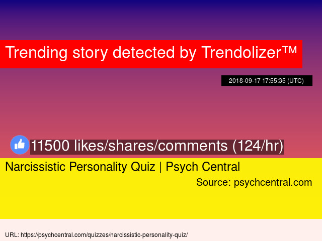 Narcisstic quiz
