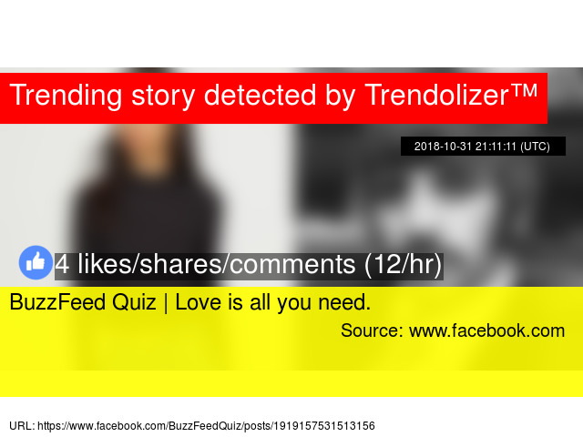 BuzzFeed Quiz | Love is all you need