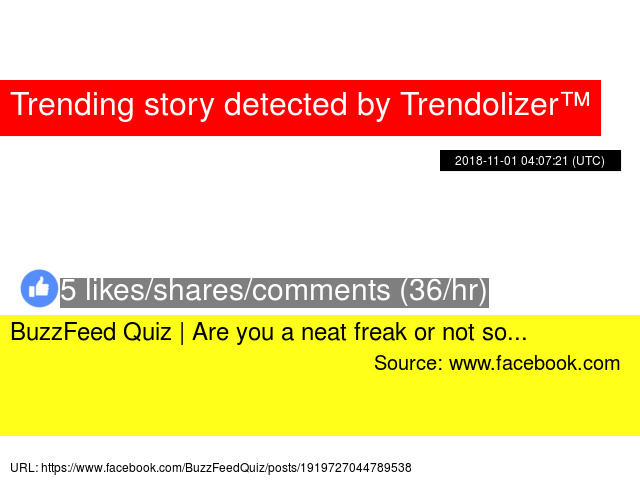 am i a freak quiz