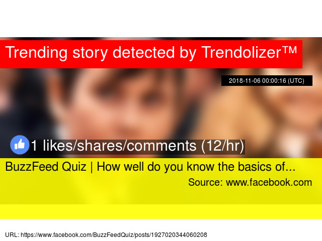 BuzzFeed Quiz | How well do you know the basics of