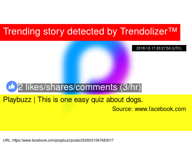 Playbuzz | This is one easy quiz about dogs. - Stats