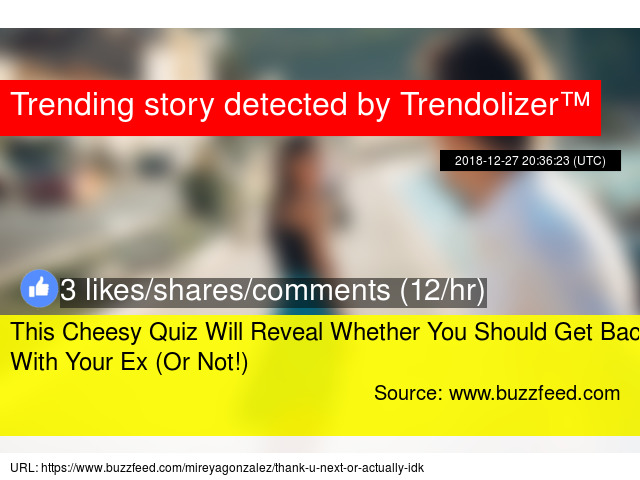 will you and your ex get back together quiz