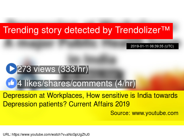 Depression at Workplaces, How sensitive is India towards Depression