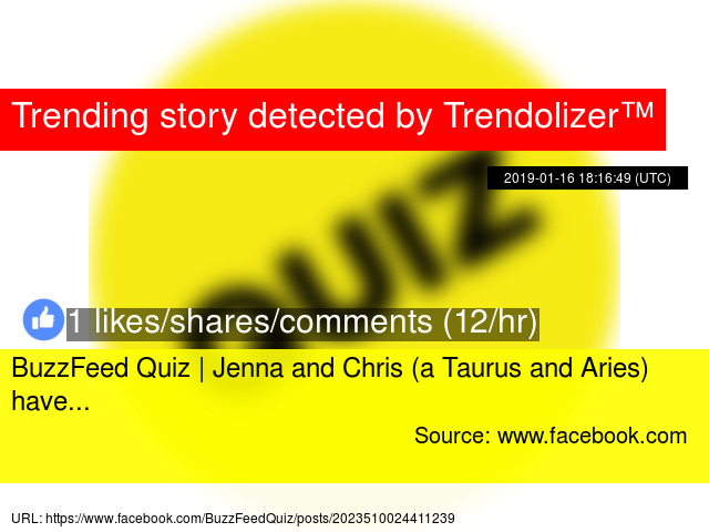 BuzzFeed Quiz | Jenna and Chris (a Taurus and Aries) have