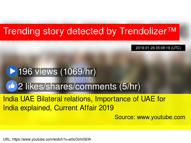 India UAE Bilateral relations, Importance of UAE for India explained