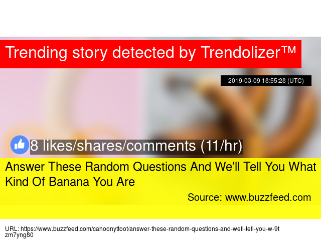 Answer These Random Questions And We'