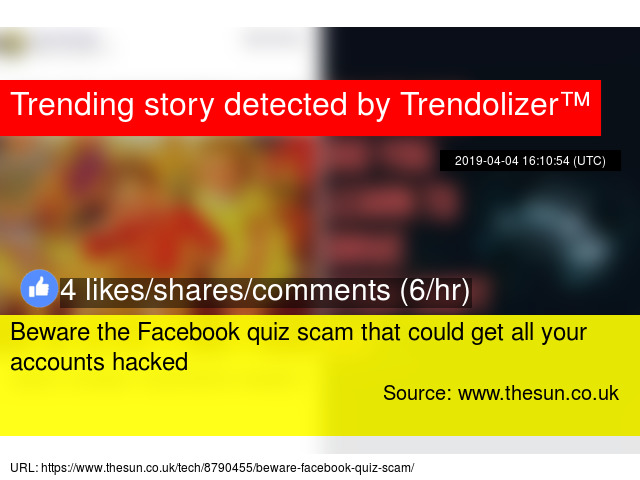 Beware the Facebook quiz scam that could get all your accounts hacked