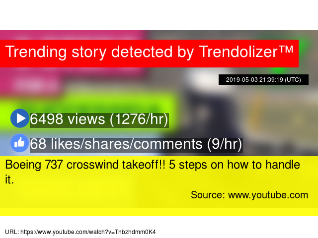 Boeing 737 crosswind takeoff!! 5 steps on how to handle it