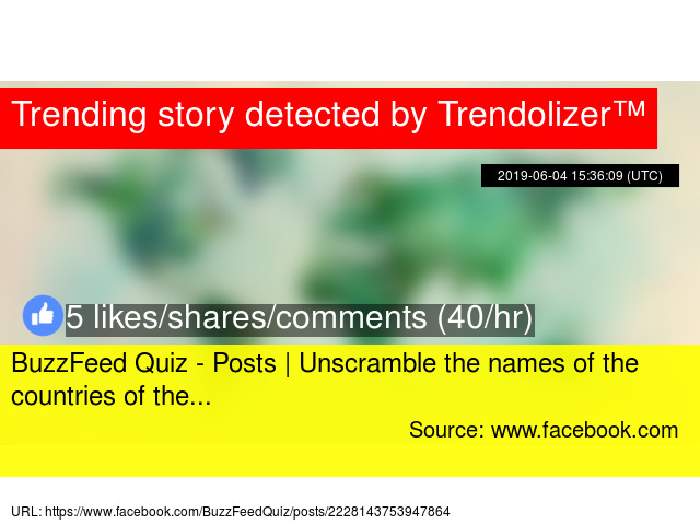 BuzzFeed Quiz - Posts | Unscramble the names of the