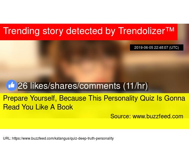 Prepare Yourself, Because This Personality Quiz Is Gonna