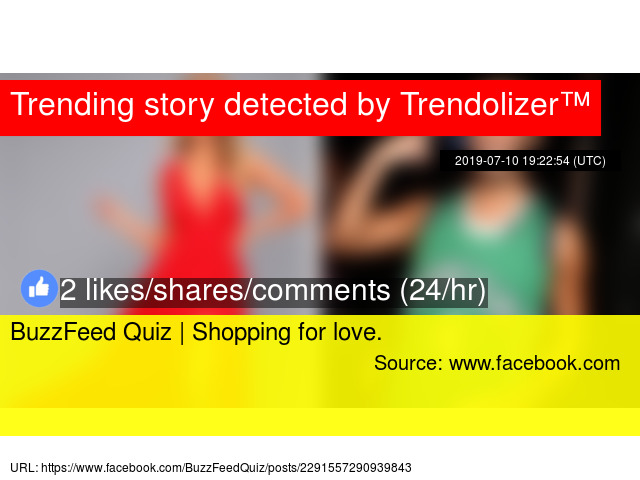 BuzzFeed Quiz | Shopping for love