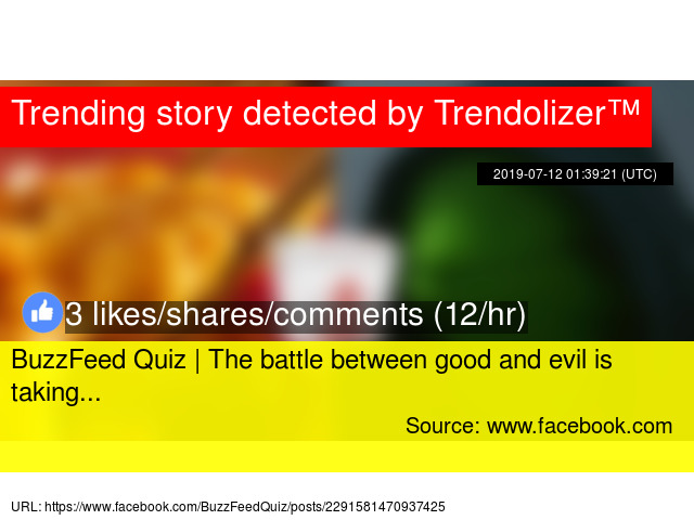 BuzzFeed Quiz | The battle between good and evil is taking