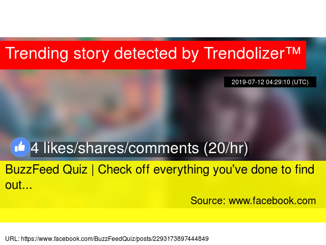 BuzzFeed Quiz | Check off everything you'