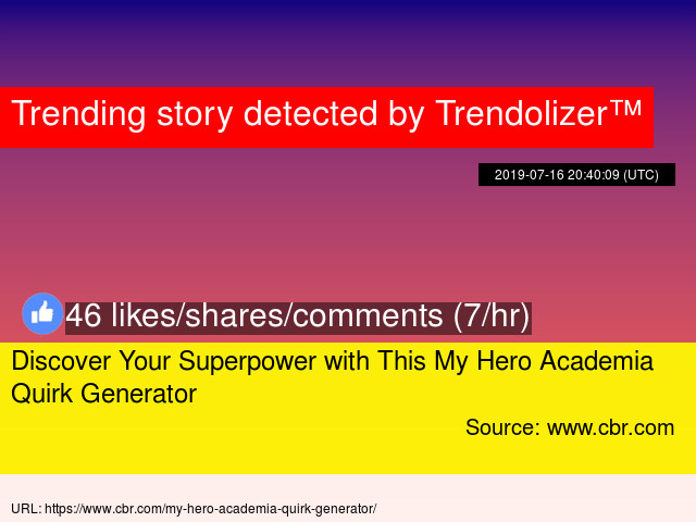 Discover Your Superpower with This My Hero Academia Quirk Generator