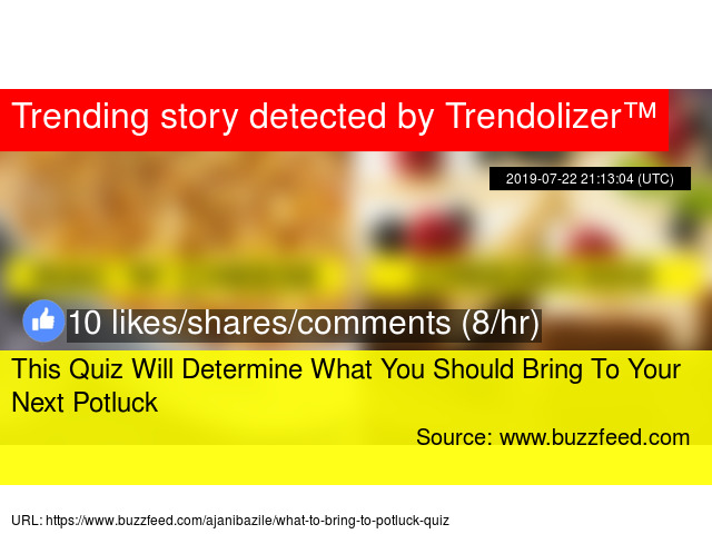 This Quiz Will Determine What You Should Bring To Your Next