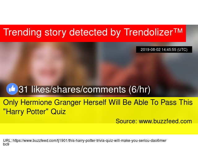 Only Hermione Granger Herself Will Be Able To Pass This