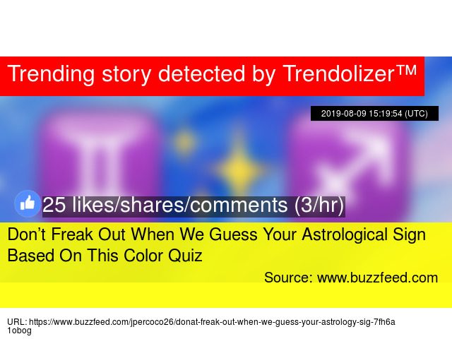 Don't Freak Out When We Guess Your Astrological Sign Based On This