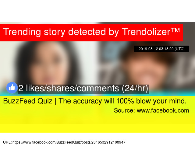 BuzzFeed Quiz | The accuracy will 100% blow your mind