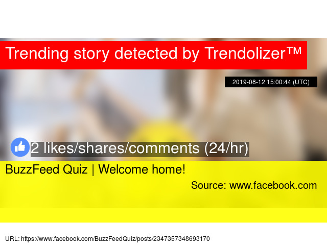 BuzzFeed Quiz | Welcome home!