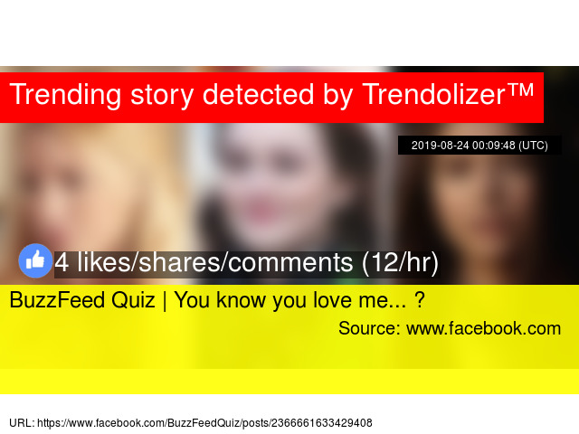 BuzzFeed Quiz | You know you love me    💋
