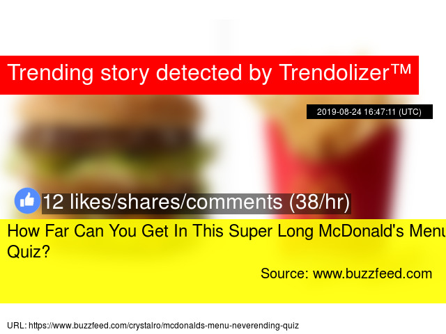 How Far Can You Get In This Super Long McDonald'