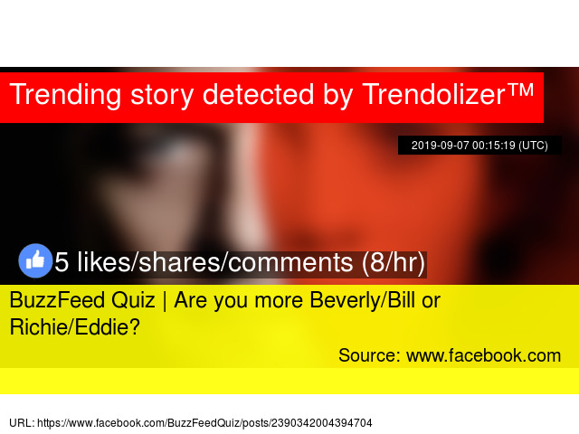 BuzzFeed Quiz | Are you more Beverly/Bill or Richie/Eddie?
