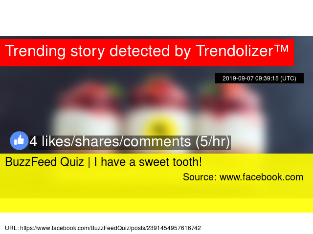 BuzzFeed Quiz | I have a sweet tooth!