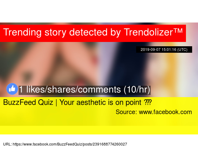 BuzzFeed Quiz | Your aesthetic is on point 💫