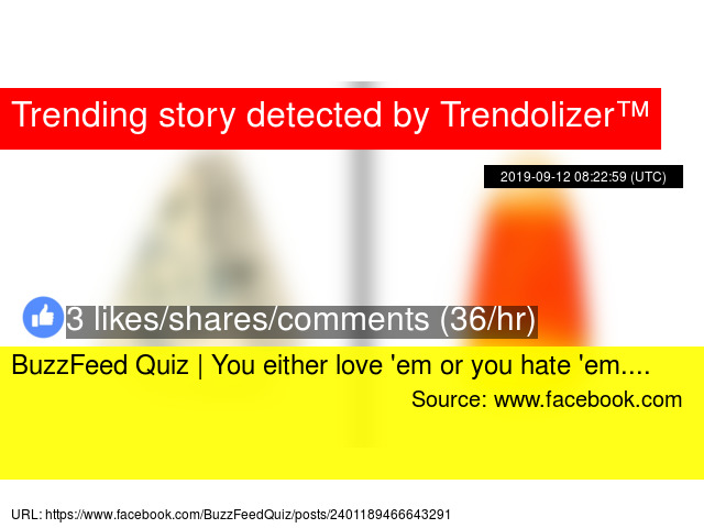 BuzzFeed Quiz | You either love '