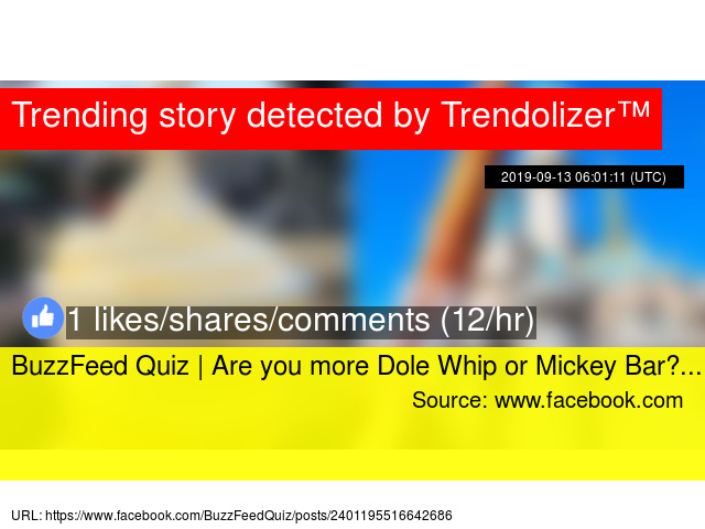 BuzzFeed Quiz | Are you more Dole Whip or Mickey Bar?