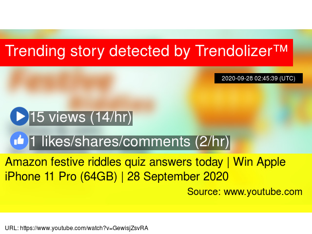 Amazon Festive Riddles Quiz Answers Today Win Apple Iphone 11 Pro 64gb 28 September 2020