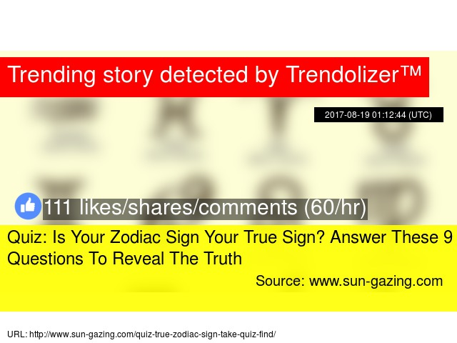 Quiz: Is Your Zodiac Sign Your True Sign? Answer These 9 Questions