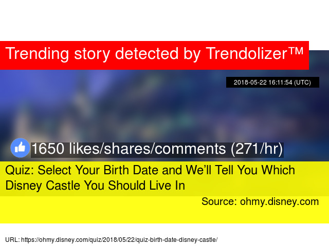Quiz: Select Your Birth Date and We'll Tell You Which Disney Castle