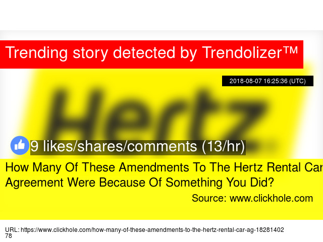 How Many Of These Amendments To The Hertz Rental Car Agreement Were