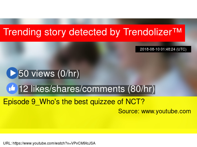 Episode 9_Who's the best quizzee of NCT?