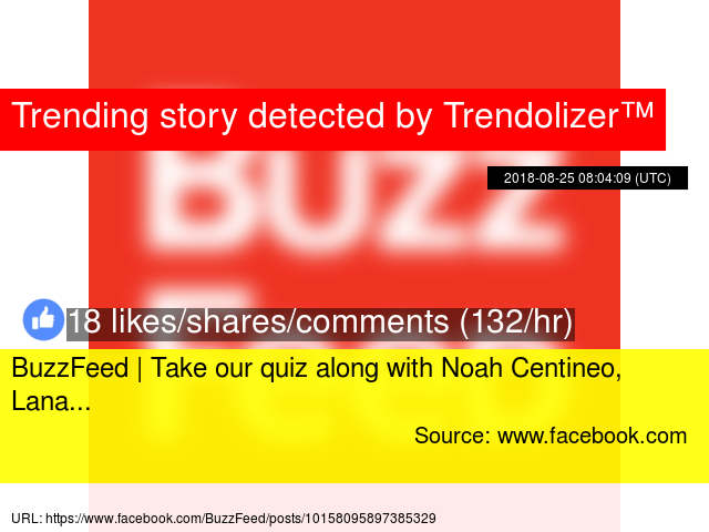 BuzzFeed | Take our quiz along with Noah Centineo, Lana