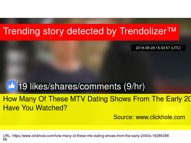 Mtv dating shows 2000s
