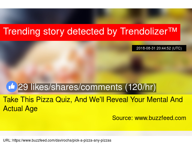 Take This Pizza Quiz, And We'